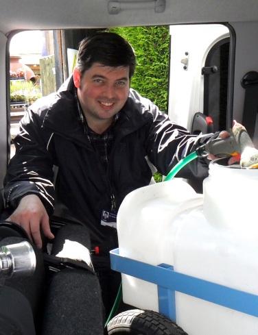 Cllr Gareth Anderson tank